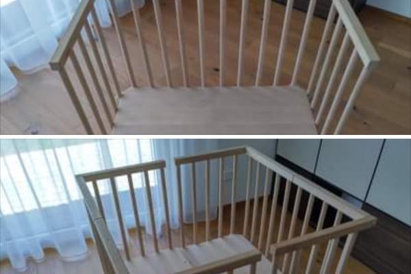 2 Babybay Midi Beistellbettchen (auch als Laufstall nutzbar)
