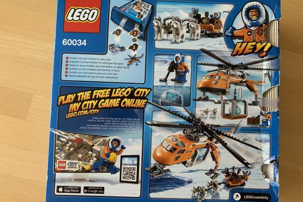 Lego City Arktis Helikopter mit Hundeschlitten