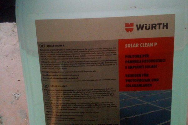 Reinigungsmittel für Fotovoltaik platten, solar anlagen o.ae