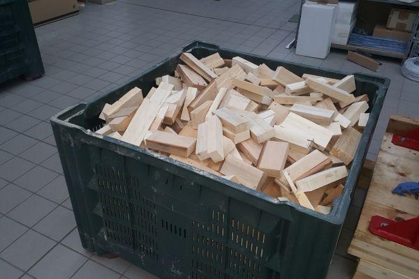 Brennholz fein geschnitten naturbelassen