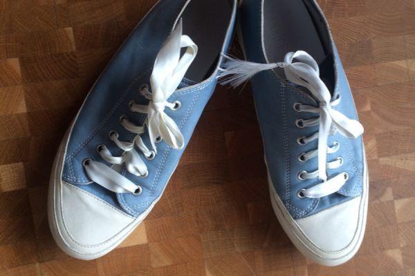 Candice Cooper Ledersneaker hellblau/weiß r. 38