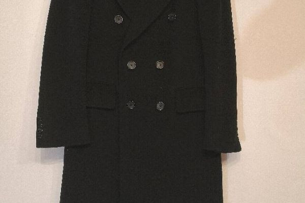 Langer Mantel aus reiner Kaschmir Wolle