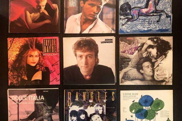Vinyl Set 02 - Schallplatten John Lennon, Billy Idol, Bangles, Kuschel