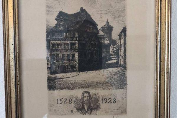 Albrecht Dürer Stich zum 400 jähr. Jubiläum original