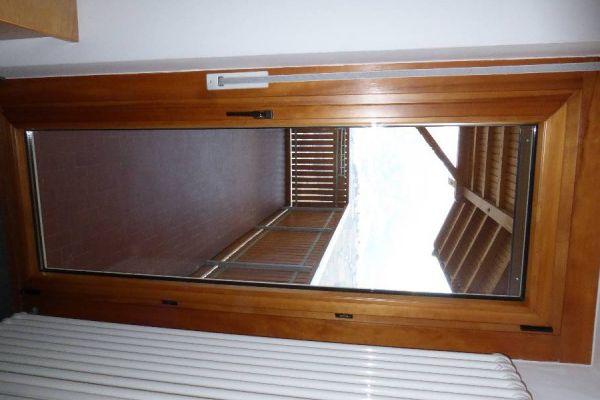 Balkontür mit Stock