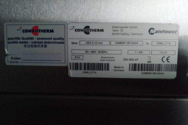 CONVOTHERM Kombidämpfer oes 6.10 easy Touch