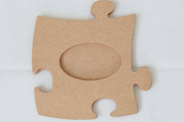 Fotorahmen Puzzle aus MDF oval