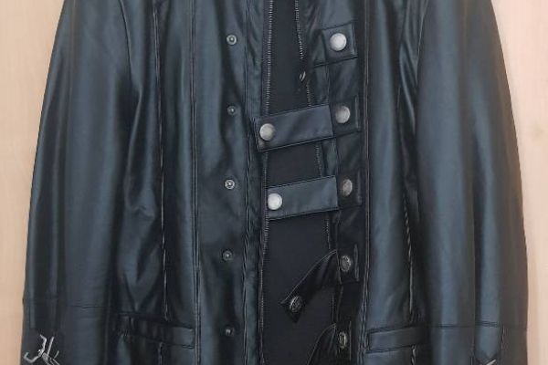 Giubbino  pelle nero uomo Punk Rave Punk Gothic