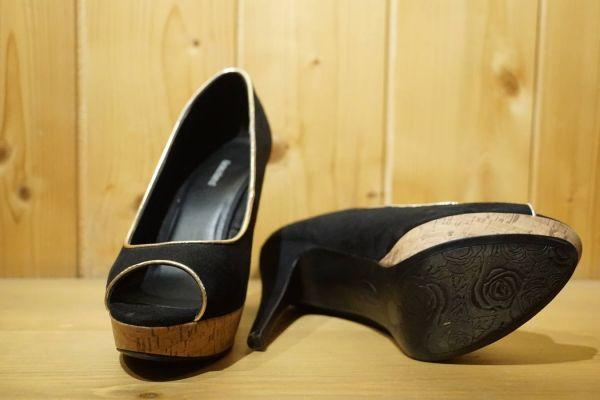 Peep Toes mit Plateau schwarz Gr. 39