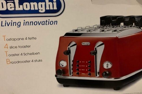 Vintage-Toaster Delonghi 4 Scheiben - unbenutzt