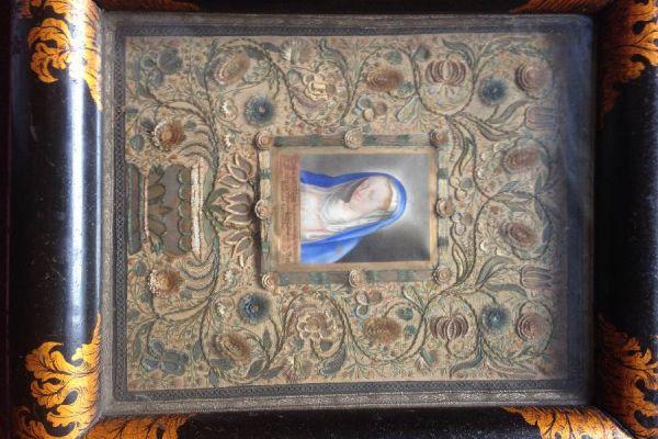 Karmelitaner Bild Klosterarbeit museales Werk aus Südtirol