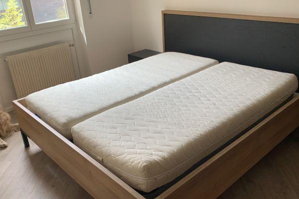 Bett massiv Holz NEU