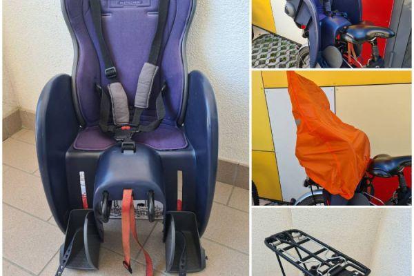 Fahrradsitz&Gepäcksträger+Regenschutz