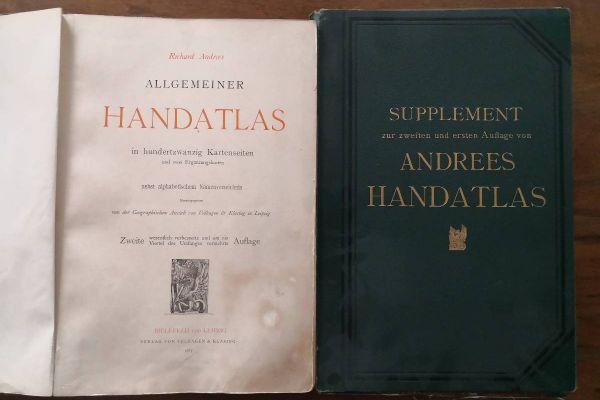 Atlas - Richard Adrees 1887 komplett mit Supplement 1893