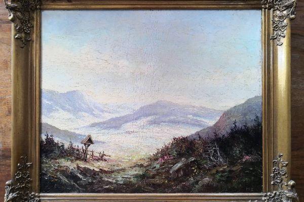 Original Öl Bild, gerahmt, alt