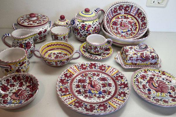Deruta handgemalte Keramik 59 Teile