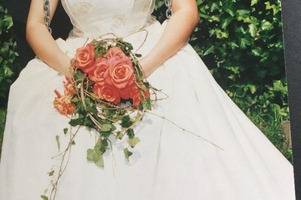 Zweiteiliges Hochzeitskleid