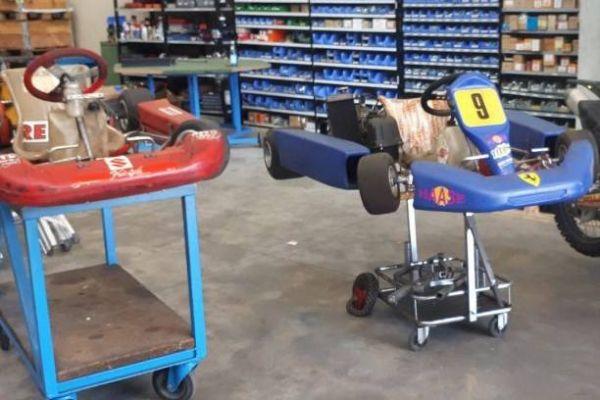 Go-kart 125ccm Rotax automatico und Gokart 60ccm