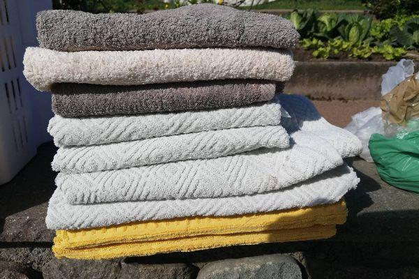 Kleine und Duschhaandtüchefverschiedene Handtücher grosse füd zum Dusc