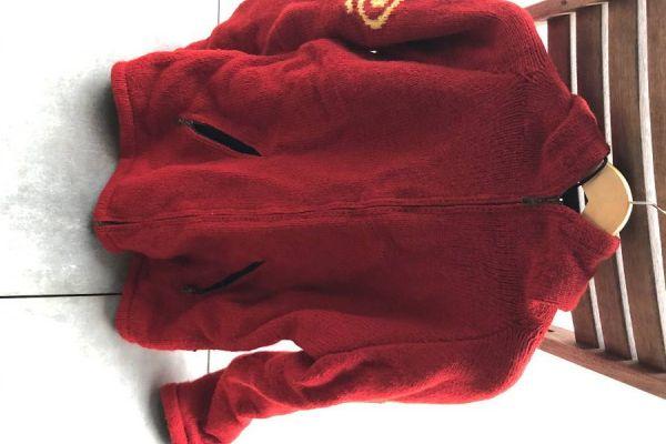 rote Jacke mit Kapuze