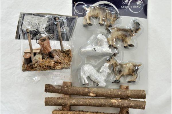 Schafe/Ziegen, Feuerstelle und Zaun