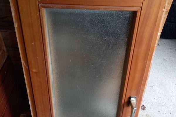 2 Fenster Doppelverglasung und Mattscheibe