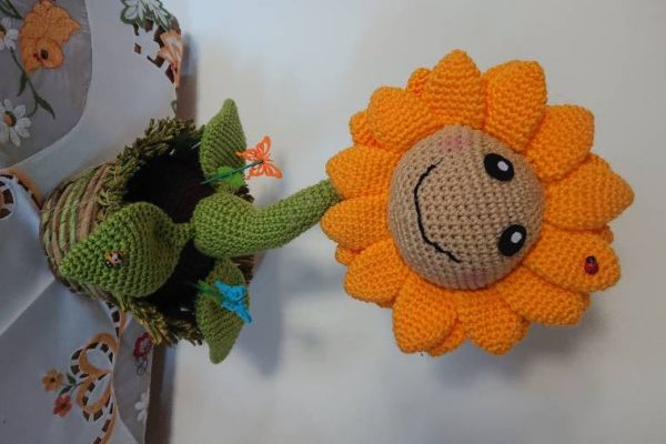 Mit ♥️ gehäkelte Sonnenblume 🌻