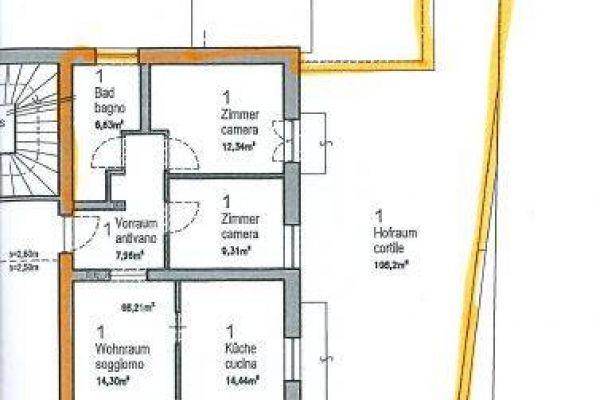 Mietwohnung - 3 Zimmer - zentrumsnahe Lage - mit Garten und Terrasse