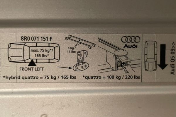 Audi Q5 Dachträger und Fahrradträger