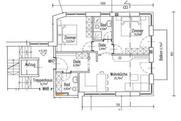 Neuwertige, helle 3-Zimmer-Wohnung in Rodeneck ab sofort zu vermieten