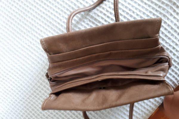 Braune Handtasche  abzugeben