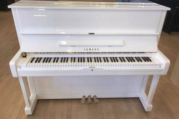 YAMAHA Klavier U 1, weiß poliert- kostenlose Lieferung! (*)
