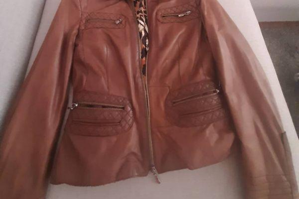 Cognacbraun Damenlederjacke im Vintagestyle Gr.42 zu verkaufen