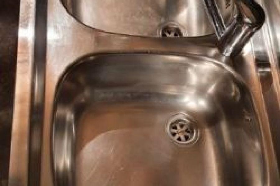 Waschbecken Edelstahl + Wasserhahn - Bild 3