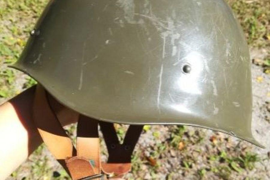 alter Militärhelm innen Leder - Bild 3