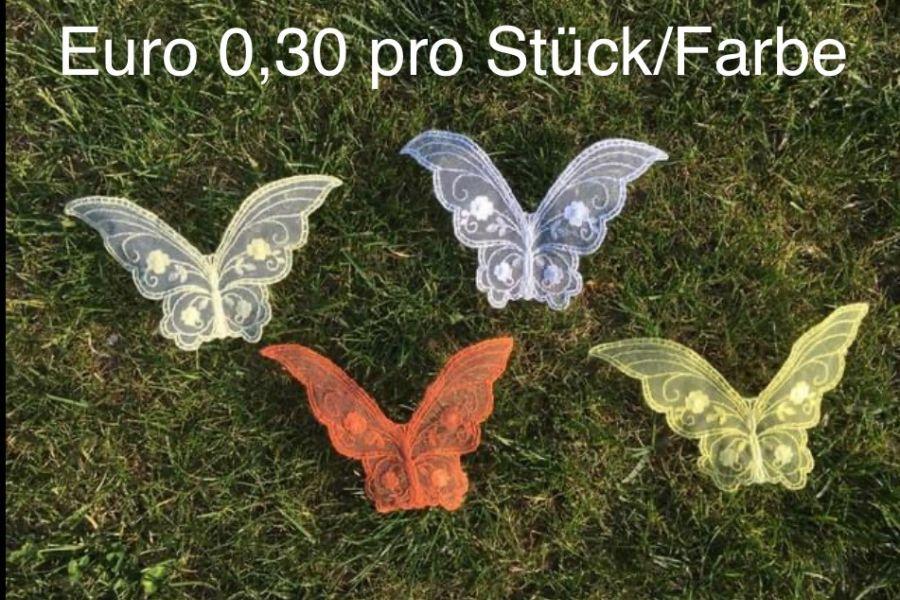Schmetterlinge zum Aufnähen/Basteln - Bild 1