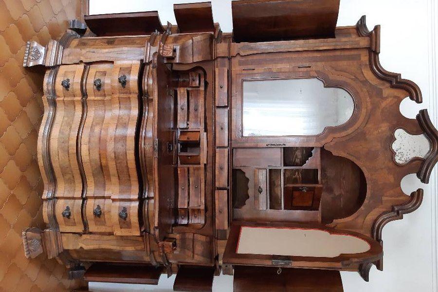 Schöner, antiker Schrank (Trumeau) - Bild 4